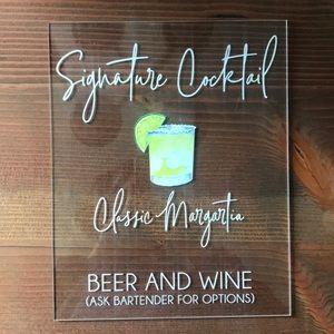 Wedding Sign-Drinks